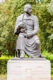 Statua bronzea di Nikolai Vasilievich Gogol nella parità di Borghese della villa Immagine Stock Libera da Diritti