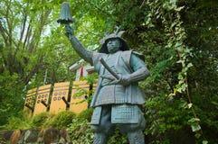 Statua bronzea di Yukimura Sanada a Osaka Immagini Stock Libere da Diritti