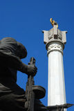 Statua bronzea nel cimitero Fotografie Stock Libere da Diritti