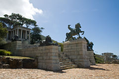 Statua bronzea, Rhodes Memorial Immagini Stock Libere da Diritti