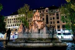 Statua a Budapest, Ungheria Immagine Stock