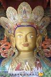 Statua Buddha jest od Thiksey monastry Leh i Ladakh obraz royalty free