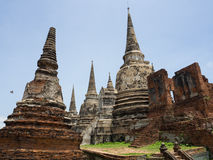 Statua Buddha przy Thammaprawat świątynią przy Ayutthaya, Tajlandia/ Obraz Royalty Free