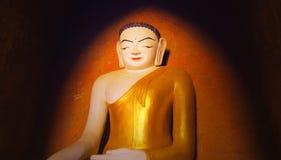 Statua Buddha w Buddyjskiej świątyni Bagan dziejowy miejsce obrazy royalty free