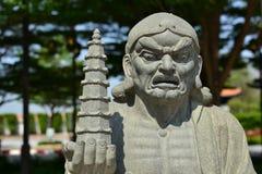 Statua buddista cinese del sacerdote immagine stock
