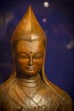 Statua buddista da legno Fotografie Stock Libere da Diritti