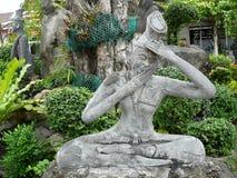Statua buddista del tample Fotografia Stock Libera da Diritti