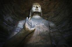 Statua buddista del V secolo Yungang Cina Fotografia Stock