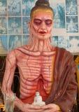 Statua cadaverica dell'uomo santo nel Myanmar del sud (Birmania) Immagini Stock Libere da Diritti