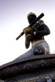 Statua cambogiana Battambang, Cambogia. Fotografia Stock Libera da Diritti