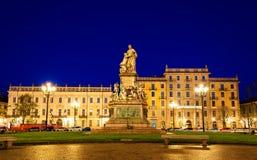 Statua Camillo Benso, obliczenie Cavour w Turyn fotografia royalty free