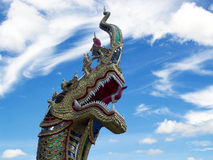 Statua capa del Naga Immagine Stock