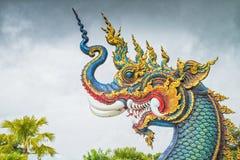 Statua capa del Naga Fotografia Stock