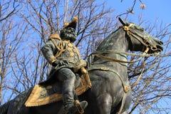 Statua Charles d'Este-Guelph diuk Brunswick, Genewa, Switz obrazy royalty free