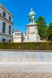 Statua Charles de Lorraine su Museumstraat, Bruxelles, Belgio Fotografie Stock Libere da Diritti
