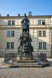 Statua Charles IV, Praga, republika czech zdjęcie stock