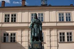 Statua Charles V w Praga Zdjęcia Stock