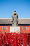 Statua Chiński filozof Confucius przy Pekin Confucius świątynią Obraz Stock