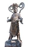 Statua Chiny w Wacie Phananchoeng Thailand odizolowywający na bielu plecy zdjęcie royalty free