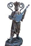 Statua Chiny w Wacie Phananchoeng Thailand odizolowywający na bielu plecy obraz stock