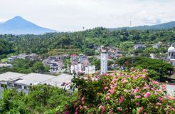 Statua Chrystus błogosławieństwo w Manado, Północny Sulawesi obrazy stock