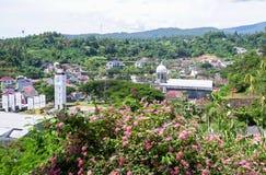Statua Chrystus błogosławieństwo w Manado, Północny Sulawesi fotografia stock