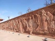 Statua cinese antica degli imperatori Fotografia Stock Libera da Diritti