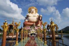 Statua cinese del dio Fotografie Stock