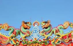 Statua cinese del drago Fotografia Stock Libera da Diritti