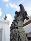 Statua cinese del guerriero su all'aperto Fotografia Stock Libera da Diritti