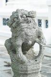 Statua cinese del leone Immagini Stock