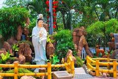 Statua cinese del tempiale Fotografia Stock Libera da Diritti