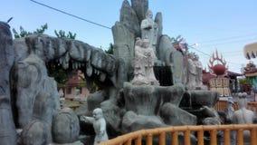 Statua cinese del tempio che desidera bene Fotografia Stock Libera da Diritti