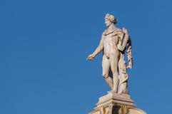 Statua classica del dio di Apollo Fotografia Stock