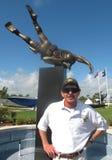 Statua commemorativa di UDT-SEAL - Direttore del museo Fotografia Stock
