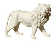 Statua con una figura di un leone Fotografia Stock