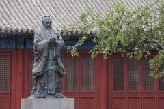 Statua Confucius w świątyni Confucius w Pekin Zdjęcie Royalty Free