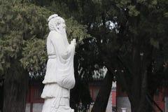 Statua Confucius w świątyni Confucius w Pekin Obrazy Royalty Free
