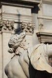 Statua dalla fontana di quattro fiumi nella piazza Navona a Roma Fotografia Stock Libera da Diritti