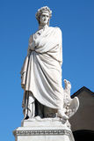 Statua Dante Alighieri 2. Statue of Dante Alighieri in Santa Croce's square near the great basilica (Florence Stock Images