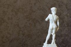 Statua David Michelangelo Tylni widoku tło 2019 zdjęcia stock