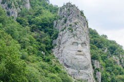 Statua Decebalus, królewiątko Dacia (współczesny Rumunia) Zdjęcia Stock