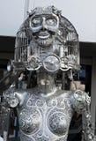 Statua decorativa di Steampunk su una via di Ternopil, Ucraina fotografia stock