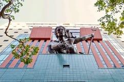 Statua decorativa sulla costruzione di governo, Portland, Oregon fotografia stock