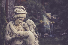 Statua degli amanti Fotografia Stock Libera da Diritti