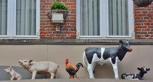 Statua degli animali da allevamento Immagini Stock Libere da Diritti