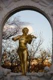 Statua degli strauss di Johan immagini stock