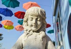 Statua dei bambini in parco Fotografie Stock Libere da Diritti