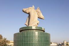 Statua dei cavalli in Umm Al Quwain immagini stock