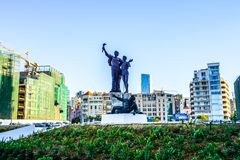 Statua 02 dei martiri di Beirut fotografia stock